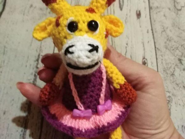 Вяжем крючком игрушку Жирафочку   Ярмарка Мастеров - ручная работа, handmade