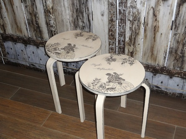 Мастер-класс по декору мебели. Табурет. | Ярмарка Мастеров - ручная работа, handmade