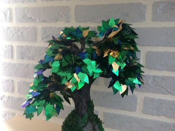 Мастерим дерево из пайеток (фото мастер-класс) | Ярмарка Мастеров - ручная работа, handmade