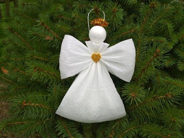 Как сделать воздушного ангелочка из бумаги просто и быстро | Ярмарка Мастеров - ручная работа, handmade