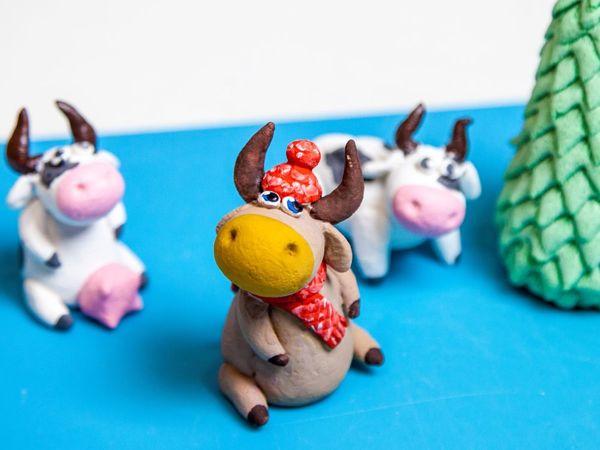 Лепим быка. Символ 2021 года | Ярмарка Мастеров - ручная работа, handmade