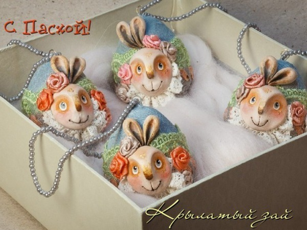 Делаем пасхальные яйца для праздничного интерьера | Ярмарка Мастеров - ручная работа, handmade