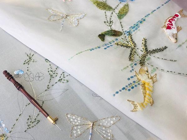 Курс  «Игры кои»  2 уровень по люневильской вышивке | Ярмарка Мастеров - ручная работа, handmade