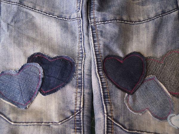 Как реанимировать рваные джинсы с помощью декоративной штопки   Ярмарка Мастеров - ручная работа, handmade