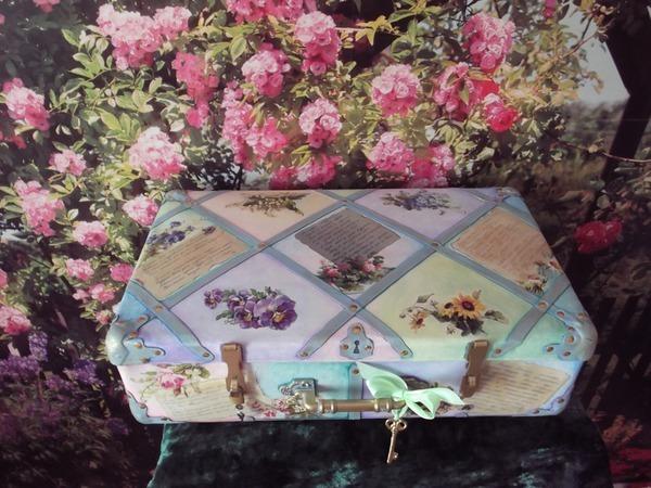 Новая жизнь старого чемодана. Эко-сказка. Свадебная! | Ярмарка Мастеров - ручная работа, handmade