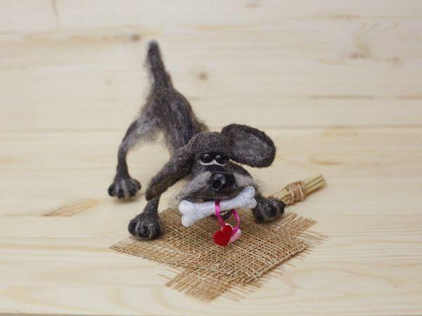 Как сделать дворового пса Шарика на каркасе | Ярмарка Мастеров - ручная работа, handmade