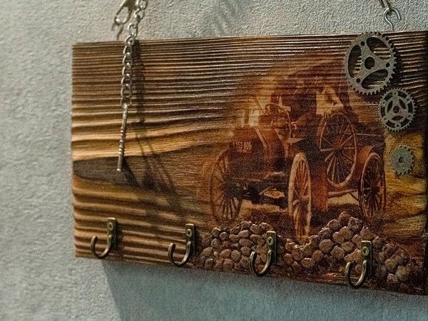 Декупаж ключницы из доски | Ярмарка Мастеров - ручная работа, handmade