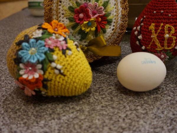 Вяжем пасхальное яйцо крючком | Ярмарка Мастеров - ручная работа, handmade