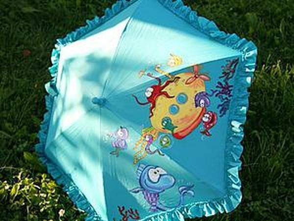 «Yellow Submarine»: роспись детского зонта | Ярмарка Мастеров - ручная работа, handmade