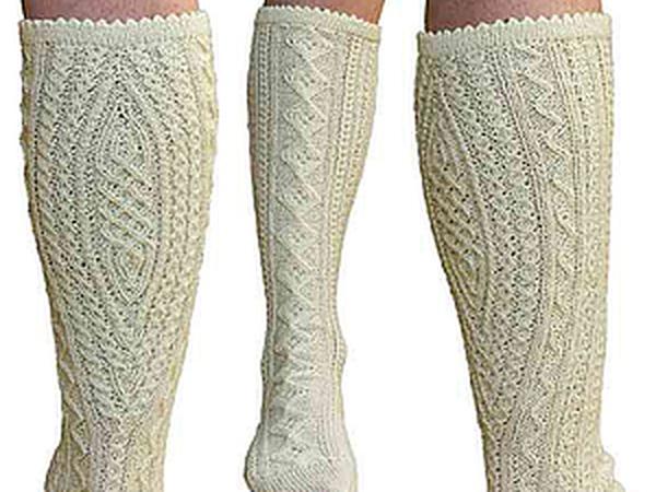 из истории вязания традиционные баварские носки ярмарка мастеров