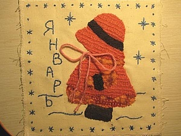 Развивающий календарь для дочки. Январь | Ярмарка Мастеров - ручная работа, handmade