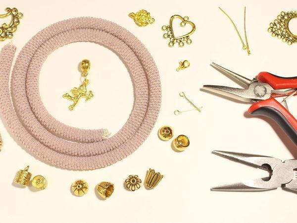 Оформляем медный жгут из бисера | Ярмарка Мастеров - ручная работа, handmade