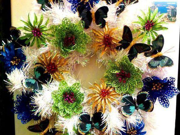 Делаем новогодний венок-магнит | Ярмарка Мастеров - ручная работа, handmade