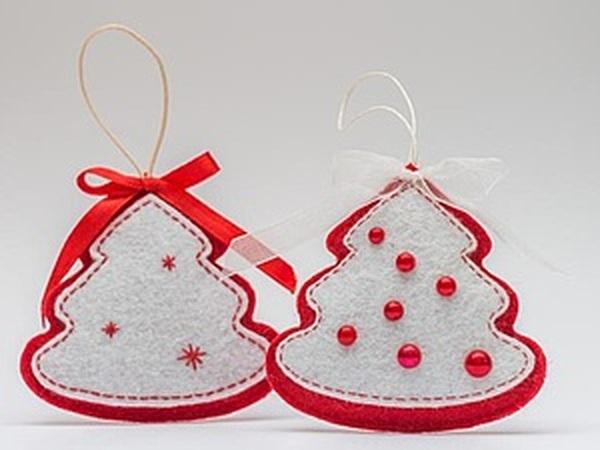 Мастерим новогоднюю ёлочку из фетра   Ярмарка Мастеров - ручная работа, handmade