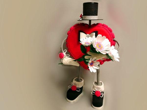 Влюбленное сердце ко дню святого Валентина   Ярмарка Мастеров - ручная работа, handmade