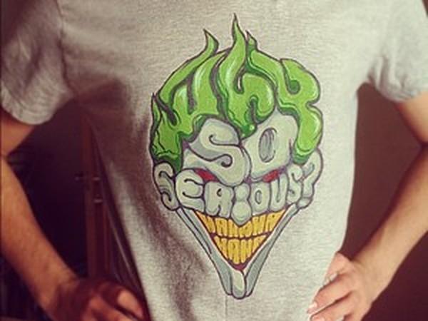 Мастер-класс по росписи футболки Joker | Ярмарка Мастеров - ручная работа, handmade