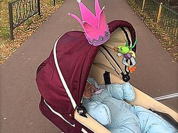 Мастерим корону на коляску для маленькой принцессы   Ярмарка Мастеров - ручная работа, handmade