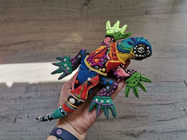 Лепим  из пластилина ящерицу   Ярмарка Мастеров - ручная работа, handmade