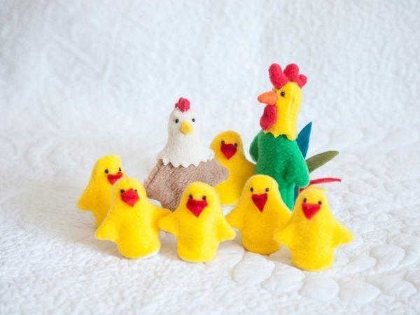 Шьем пальчиковую игрушку «Цыпленок» | Ярмарка Мастеров - ручная работа, handmade