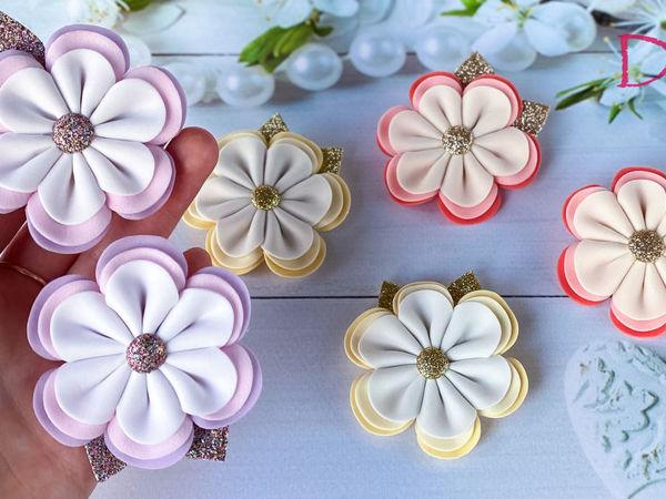 Делаем красивые и простые в исполнении цветы из фоамирана | Ярмарка Мастеров - ручная работа, handmade
