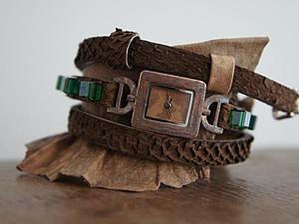 Ремешок для часов своими руками   Ярмарка Мастеров - ручная работа, handmade