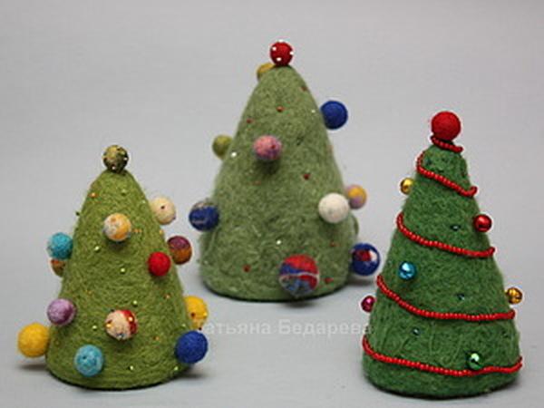 Валеная елка из шерсти ! | Ярмарка Мастеров - ручная работа, handmade