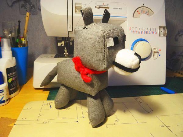 Мастерим волка-собаку по мотивам игры Minecraft   Ярмарка Мастеров - ручная работа, handmade