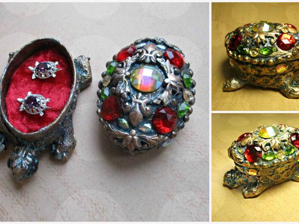 Делаем коробочку-черепашку для серёжек   Ярмарка Мастеров - ручная работа, handmade