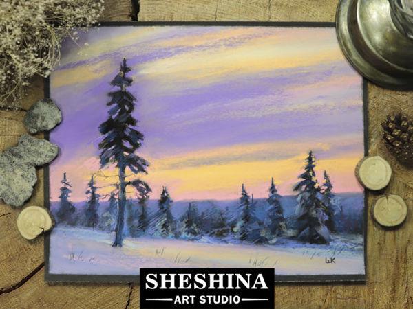 Video Tutorial: Dry Pastel Winter Landscape | Livemaster - handmade