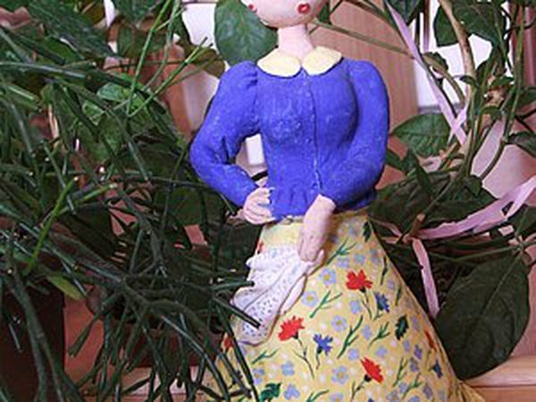 Spring Quadrille, or An Interior Doll from Salt Dough | Livemaster - handmade