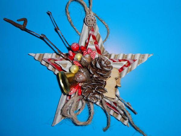 Изготавливаем Рождественскую звезду из доступных материалов   Ярмарка Мастеров - ручная работа, handmade