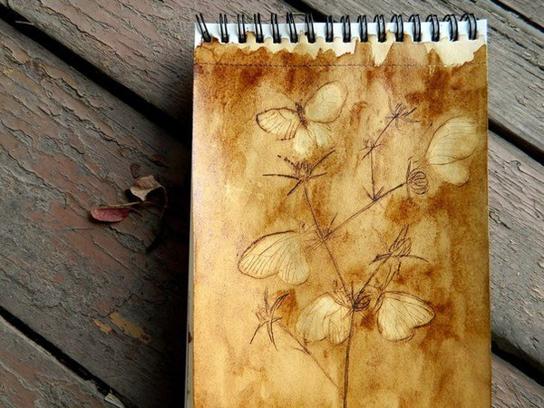 Видеоурок: рисуем иглой кофейных бабочек | Ярмарка Мастеров - ручная работа, handmade