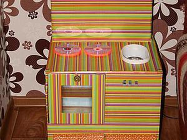 Детская кухня из картонных коробок   Ярмарка Мастеров - ручная работа, handmade