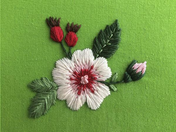 Вышиваем шиповник | Ярмарка Мастеров - ручная работа, handmade