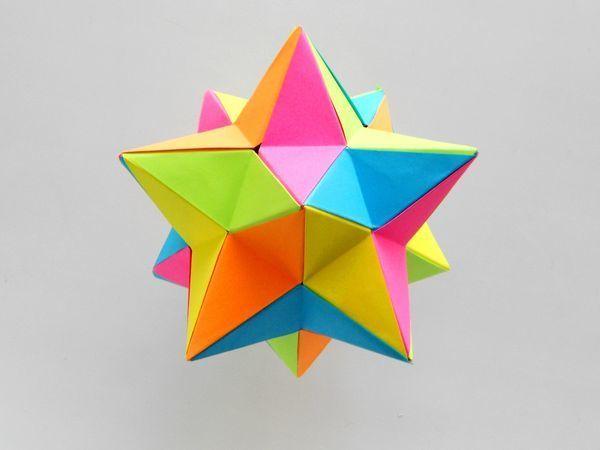 Создаем малый звёздчатый додекаэдр из бумаги   Ярмарка Мастеров - ручная работа, handmade