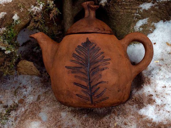 Чайник Грибная Кочка керамика | Ярмарка Мастеров - ручная работа, handmade