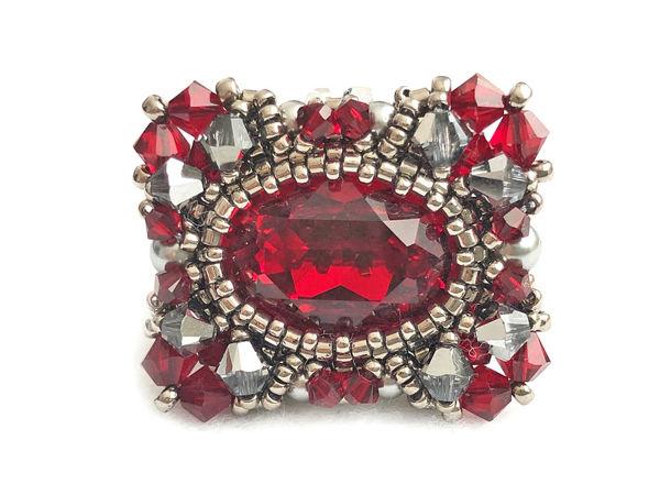 Создаем кольцо из бисера и кристаллов Swarovski «Queen» | Ярмарка Мастеров - ручная работа, handmade