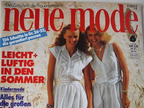 Новая мода Neue Mode 6/1980 | Ярмарка Мастеров - ручная работа, handmade