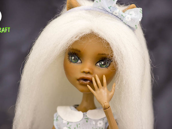 Переделка куклы: ООАК, прошивка волос шерстью, обувь и платье своими руками для куклы Монстер Хай | Ярмарка Мастеров - ручная работа, handmade