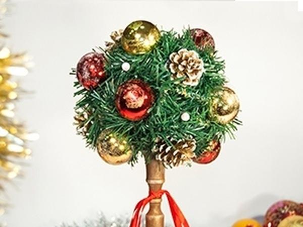 Новогодний топиарий или дерево счастья своими руками | Ярмарка Мастеров - ручная работа, handmade