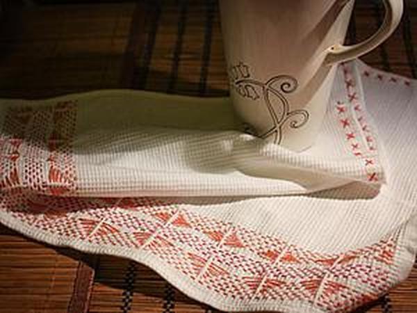 Осваиваем технику «шведское плетение»: делаем вышивку на полотенце | Ярмарка Мастеров - ручная работа, handmade