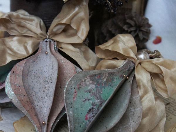Мастерим украшение в винтажном стиле для новогодней ели своими руками | Ярмарка Мастеров - ручная работа, handmade