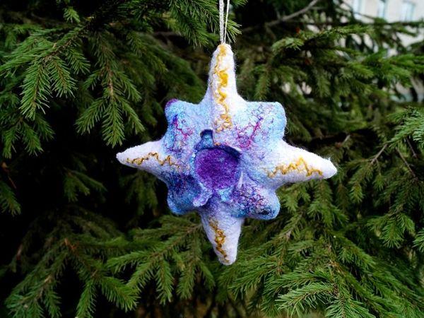 Валяем Рождественскую звезду | Ярмарка Мастеров - ручная работа, handmade