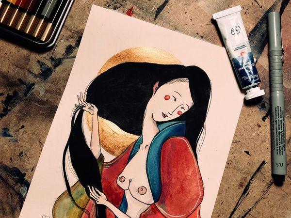 Азия акварели обзор   Ярмарка Мастеров - ручная работа, handmade