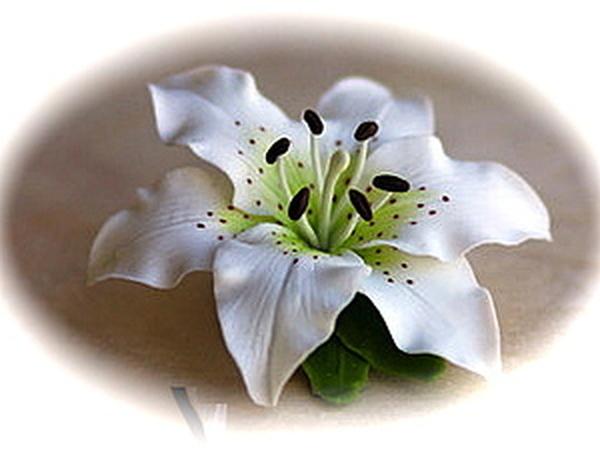 Лилия--цветок из полимерной глины. | Ярмарка Мастеров - ручная работа, handmade