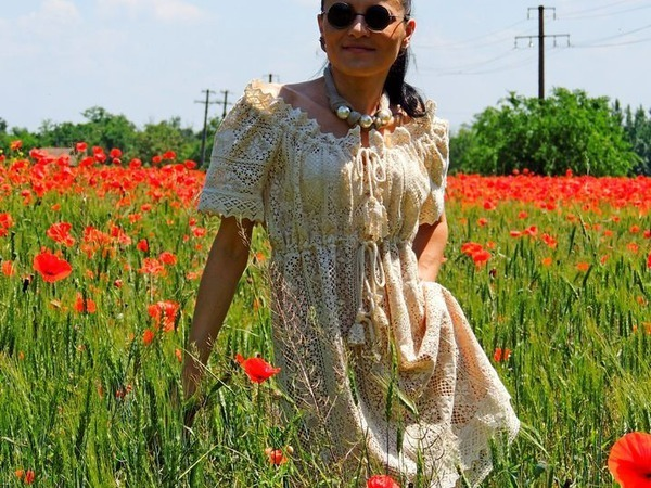Новинка. Летнее Бохо платье из кружева | Ярмарка Мастеров - ручная работа, handmade