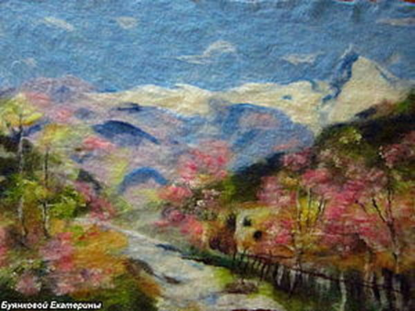 Мастер-класс по валянию картин из шерсти (пейзаж) | Ярмарка Мастеров - ручная работа, handmade