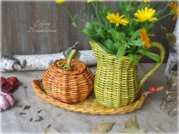 Плетеные кувшины | Ярмарка Мастеров - ручная работа, handmade