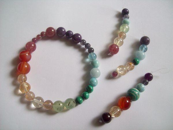 Кулоны, брелки, браслет - 7 чакр из натуральных камней | Ярмарка Мастеров - ручная работа, handmade