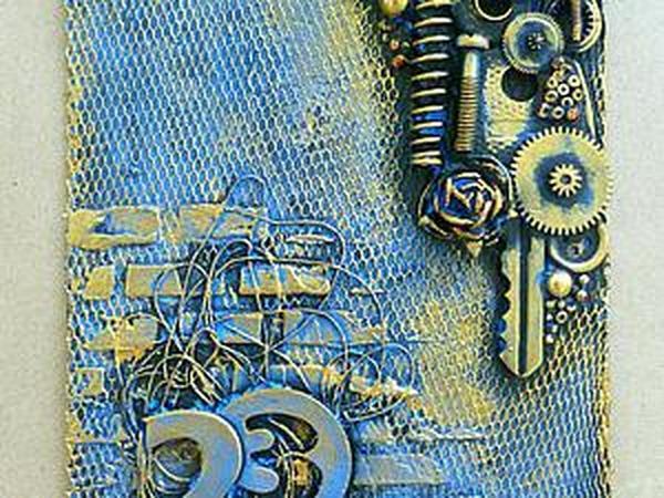 Делаем открытку-магнит к 23 февраля из того, что есть под рукой | Ярмарка Мастеров - ручная работа, handmade